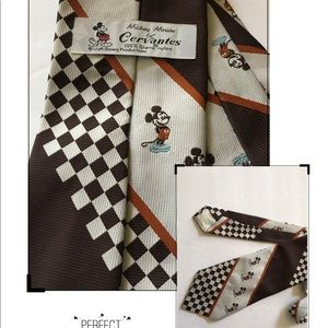 Classic Mickey Mouse Necktie by Cervantes